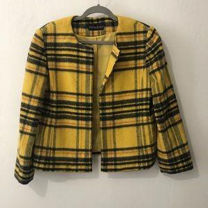 Vintage Clueless yellow plaid jacket